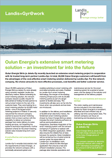 Finland: Oulun Energia's extensive smart metering solution