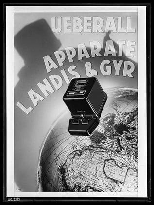 Überall Apparate Landis & Gyr, 1935 (© Archiv für Zeitgeschichte, Firmenarchiv Landis & Gyr)