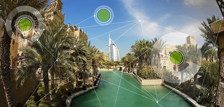 Dubai - IDEA Presentation Front Page Dubai with Dots
