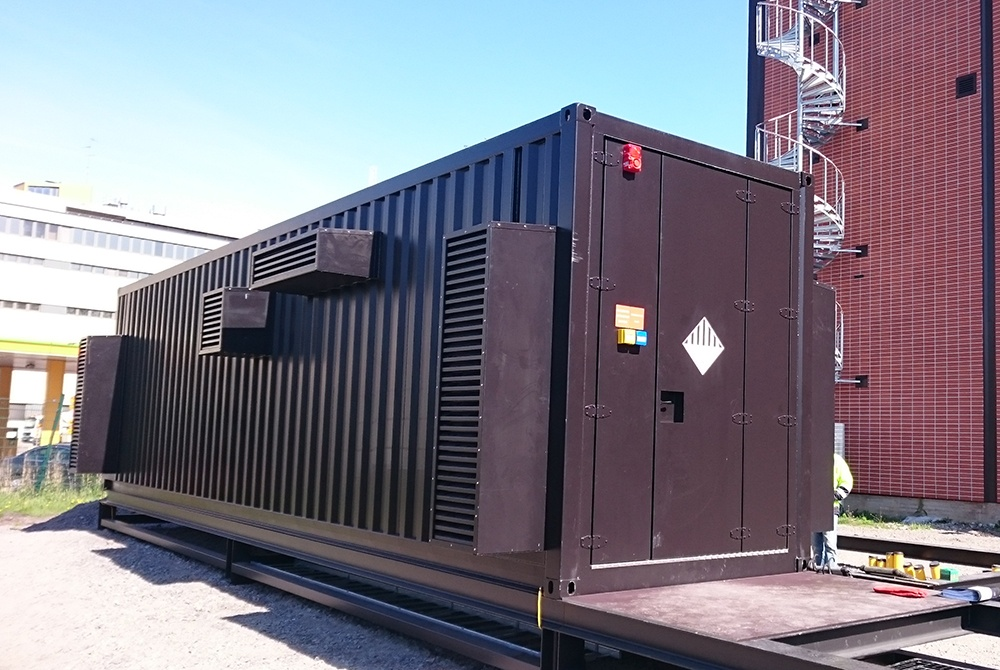 Battery Energy Storage System (BESS) installed in Helsinki